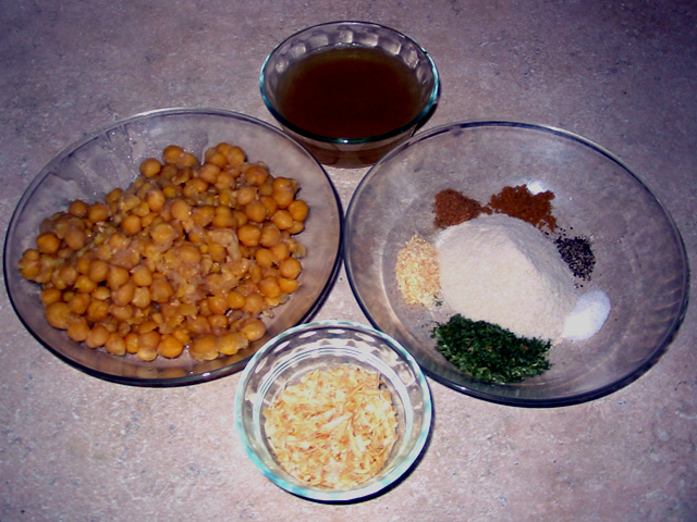 Falafel ingredients