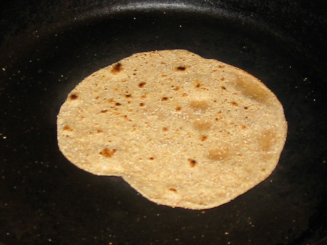 Browned Roti in skillet
