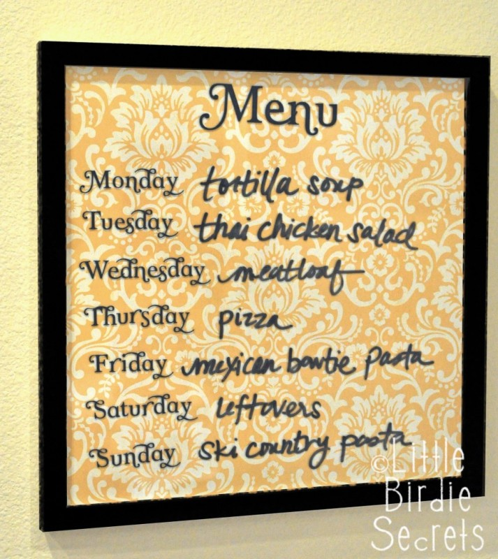 fun menu board