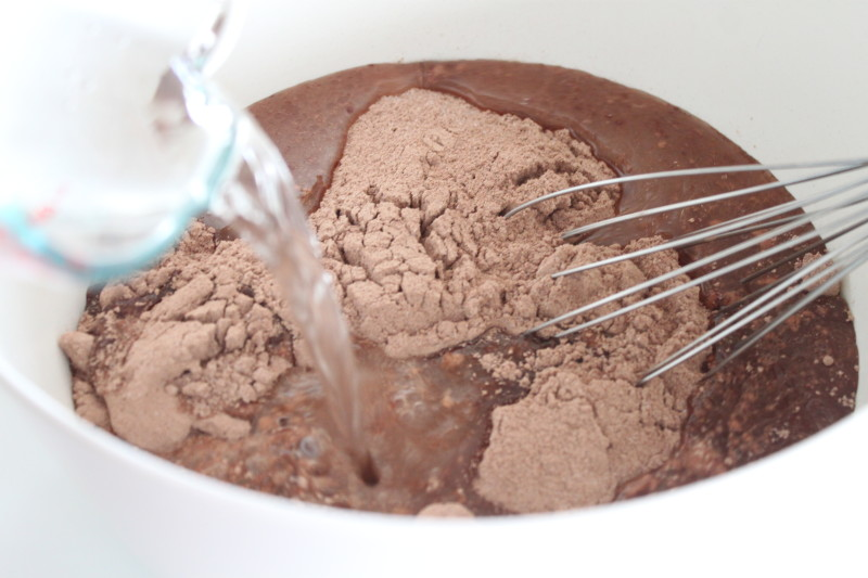 Pour On Boiling Water Chocolate Cake