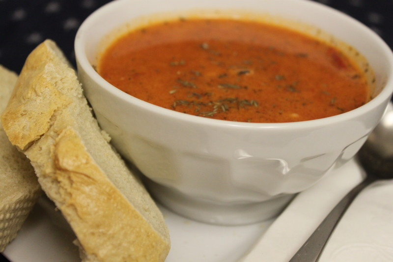 Roasted Red Pepper Soup and Homemade French Bread (21)
