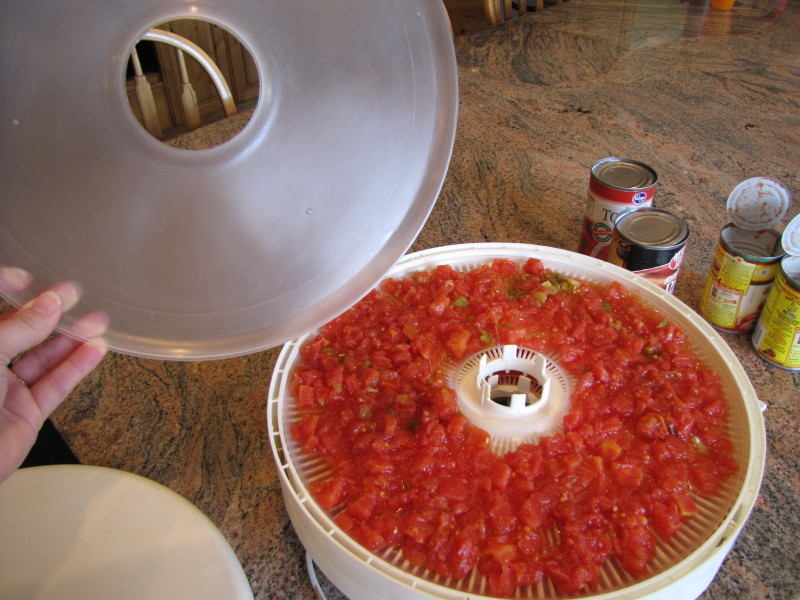 dehydrating canned tomatoes
