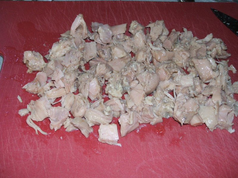 chopped canned chicken