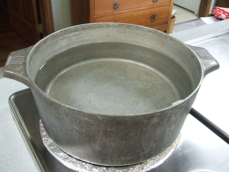 water in pot