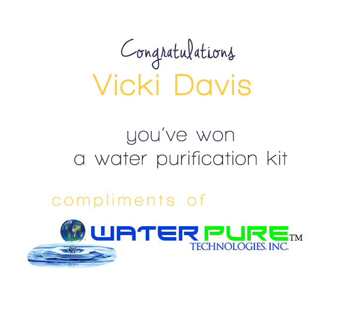 week 2 water kit winner