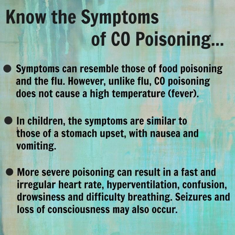 symptoms CO